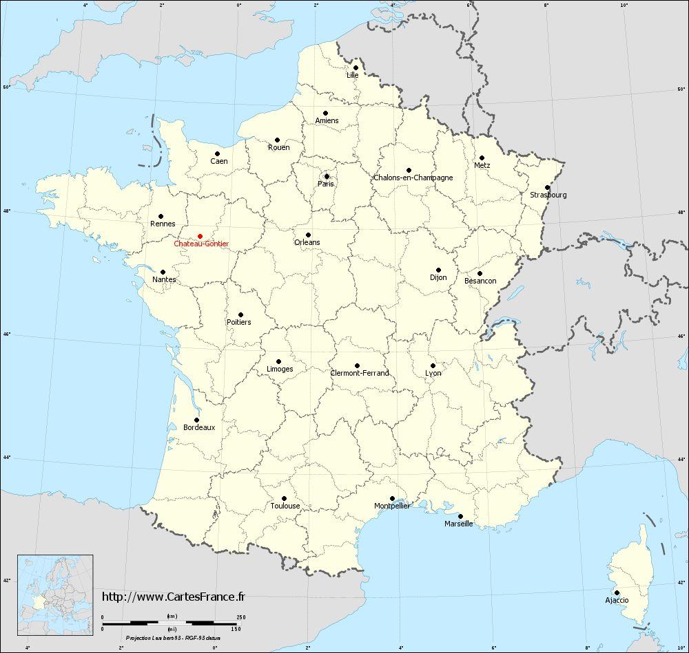 Carte chateau france