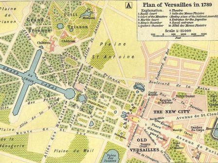 Plan parc de versailles