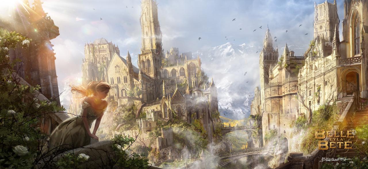 Chateau de belle et la bete