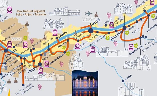 Itineraire visite chateaux de la loire - chateau u montellier