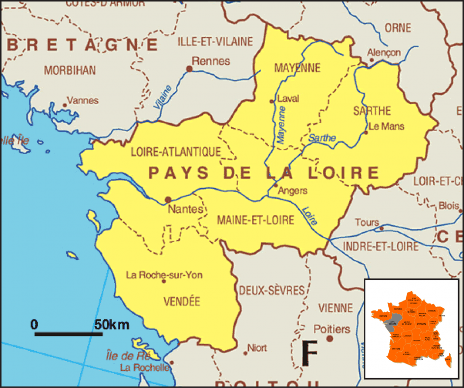 pays-de-loire-sur-carte-de-france - Photos