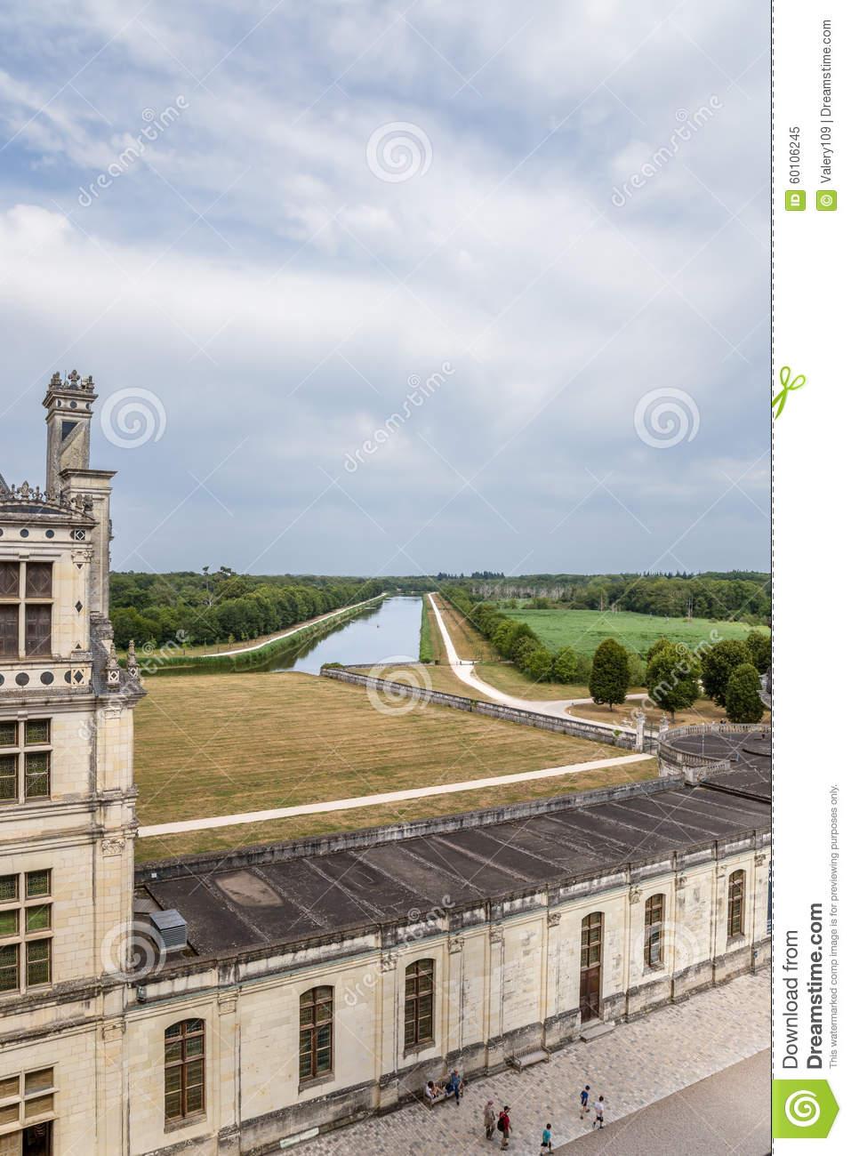 Parking chateau de chambord