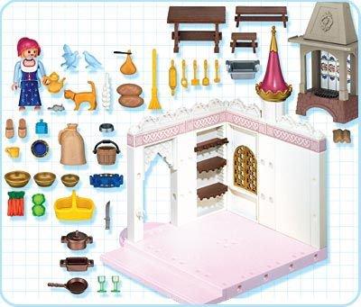 Cuisine playmobil chateau princesse