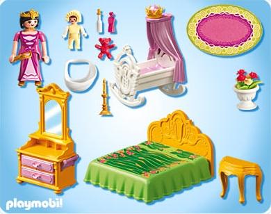 Playmobil princesse chambre - chateau u montellier