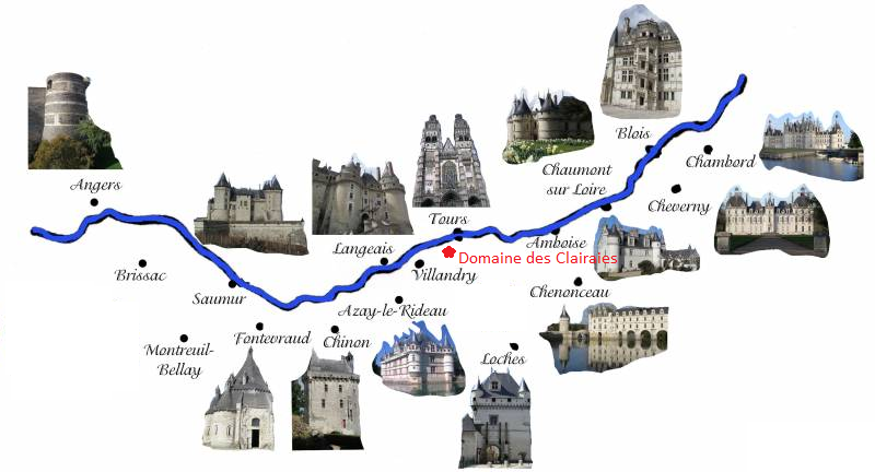 Visite Chateau De La Loire Carte