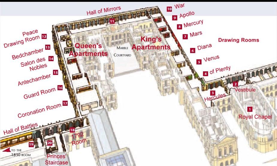 Plan de chateau de versailles
