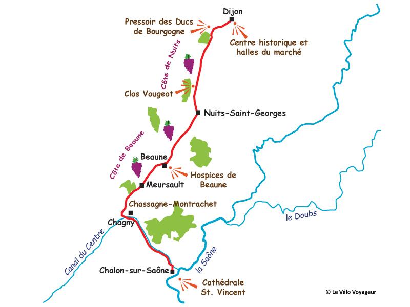Route des vins bourgogne beaune
