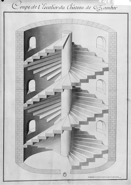 Escalier chambord plan