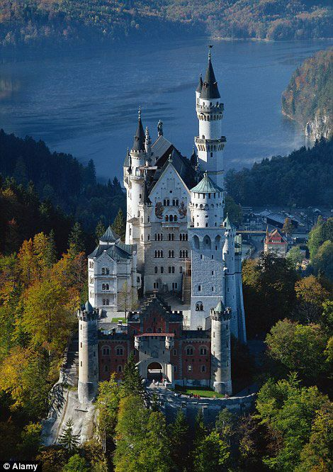 Chateau allemand de la belle au bois dormant