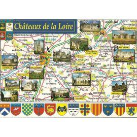 Carte géographique des châteaux de la loire - chateau u montellier