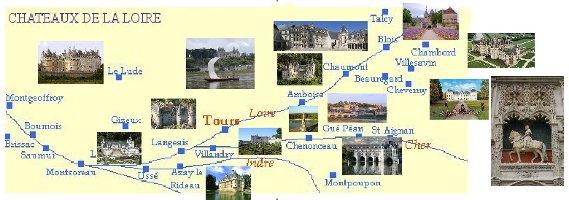 Carte Chateau De La Loire Circuit