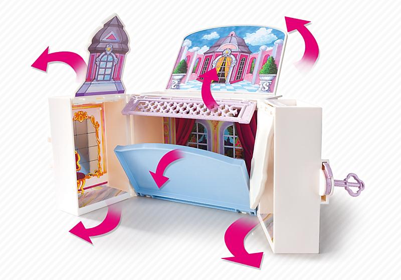 Coffre princesse playmobil transportable