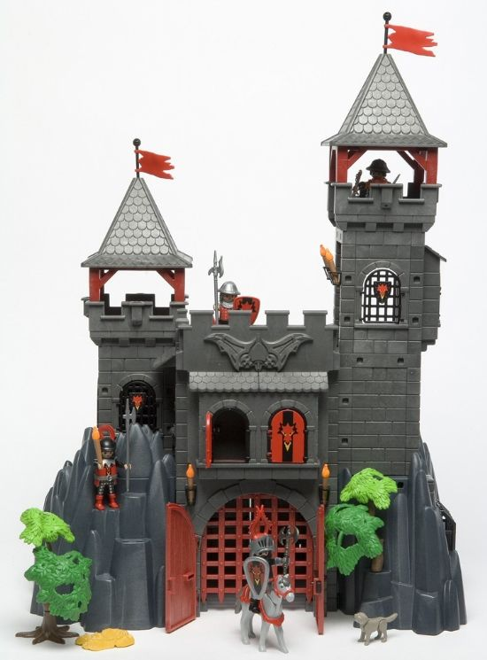Playmobil chateau dragon rouge