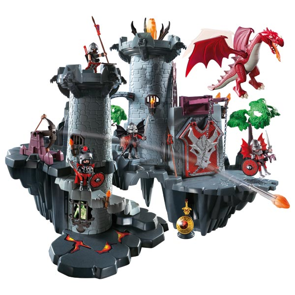 Playmobil citadelle dragon rouge