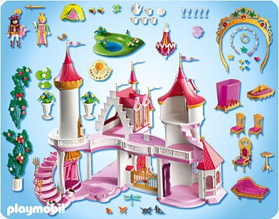 Piece chateau princesse playmobil