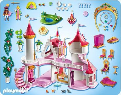 Piece chateau princesse playmobil
