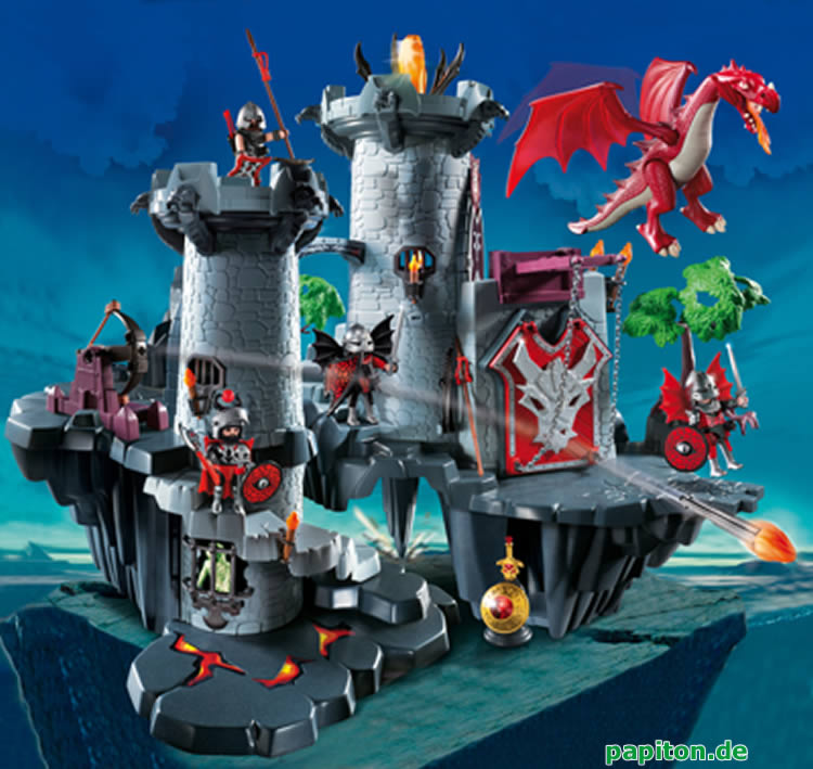 Playmobil chateau du dragon rouge